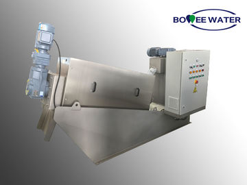 Cina Kustom Multi Plate Screw Press, Mesin Dewatering Lumpur Sludge Dengan Panel Kontrol Listrik Distributor