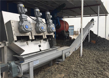 Cina 0.25-100 M3 / H Sludge Dewatering Screw Press, Screw Press Sludge Dewatering Machine Distributor